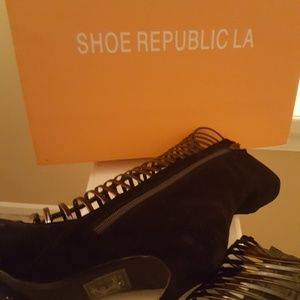 Shoe Republic LA Caged Stilettos